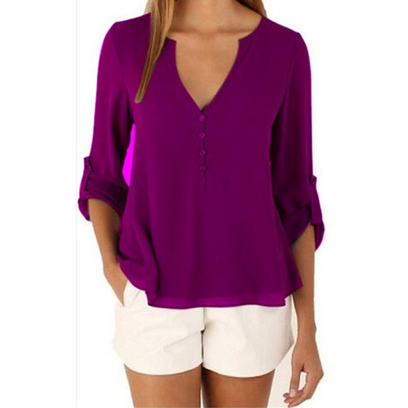 Fashion Brand Blouse Shirt V Neck Sexy Plus Size Cheap Clothes China Blusas Feminina Clothing Summer Women Tops Pullover Blouses 2