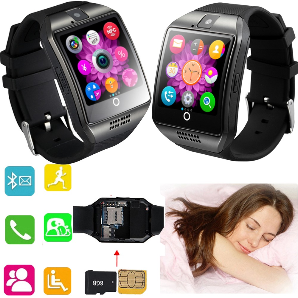 NFC Screen Touch Bluetooth Smart Watch Soporte telefónico Tarjeta SIM TF para Android IOS Samsung S8 S7 S6 iPhone X 8 7 6 6S LG G6 G5 G4