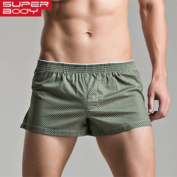 Men's Boxers Loose Leisure Home Shorts Cotton Underwear Men Boxer Fashion Dot Underpants Lounge Pajamas Panties - discount item  38% OFF Men's Underwears