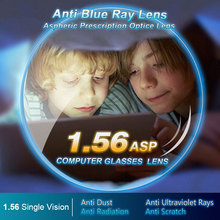 1.56 Anti-Blue Ray Single Vision Aspheric Optical Lenses Prescription Vision Correction Computer Reading Lens for women and men