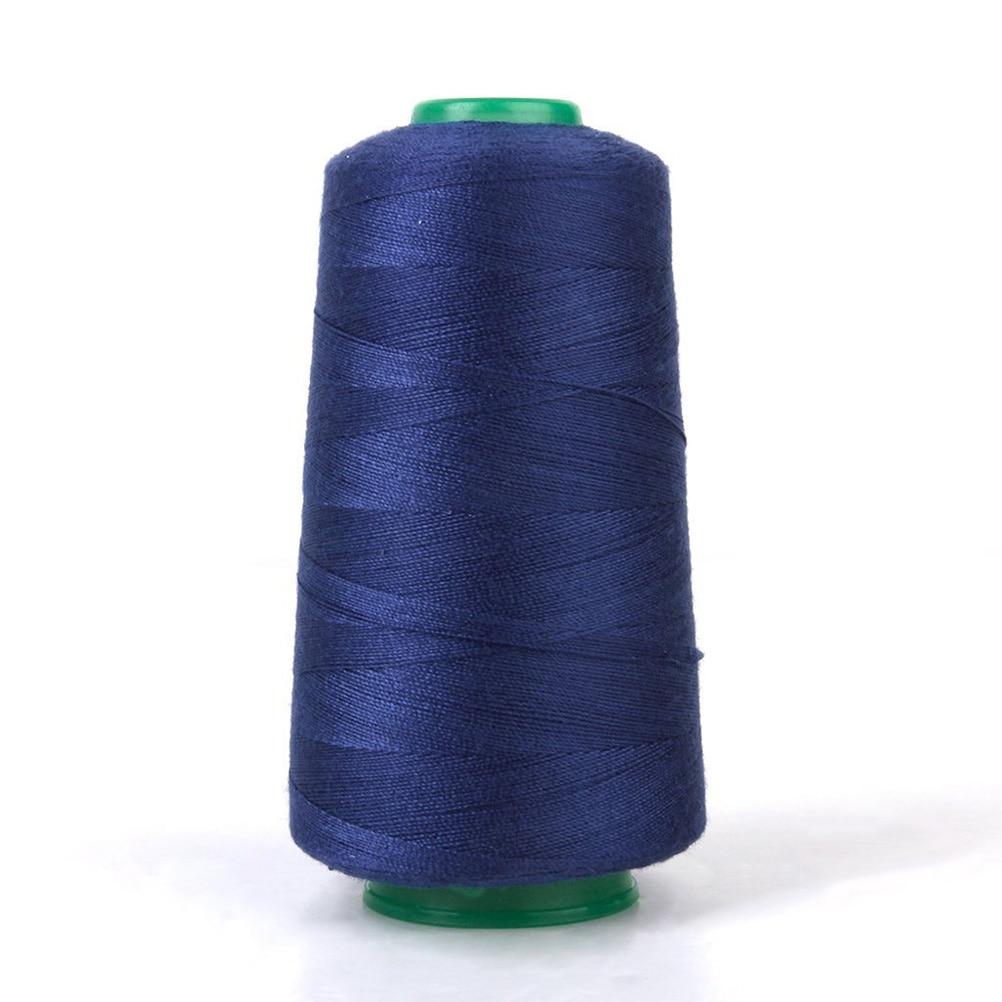 20S / 2 1 Spools Symaskin Industriell Polyester Jeans Sytråd för Symaskin (Mörkblå)