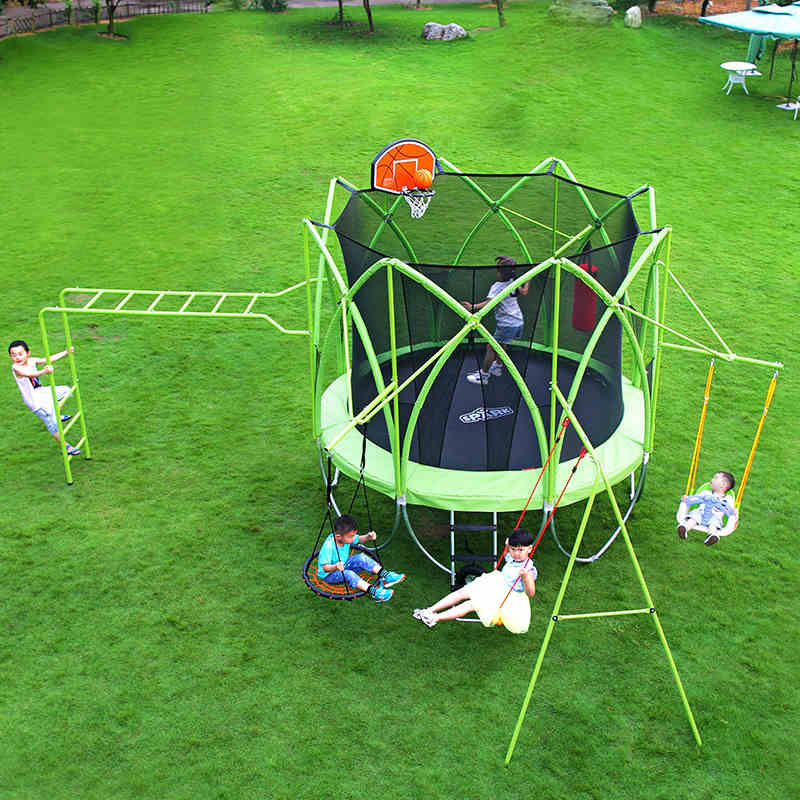 TIANXIN Child Trampoline With Swing And Ladder Outdoor Big