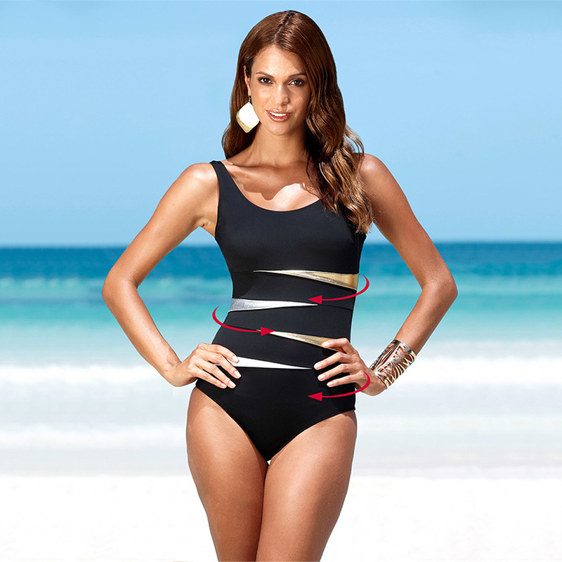 2018 Plus Size Bathing Suits Patchwork One Piece Swimsuit Women Swimwear Sexy Bodysuit Monokini  XL, 2XL,3XL,4XL aleumdr new 2017 plus size women bodysuit swimsuit print one piece monokini beach wear swimwear sexy bathing suits 410071