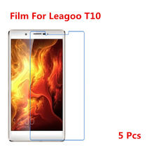 5 Pcs Ultra Thin Clear HD LCD Screen Guard Protector Film With Cleaning Cloth For Leagoo T10.