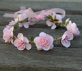 Mamãe e Me Coroas de Flores de Pêssego Rosa Nupcial Do Casamento Da Flor Meninas Cabelo Flores Mulher Crianças Tiara de Flores Meninas Do Bebê Headband do