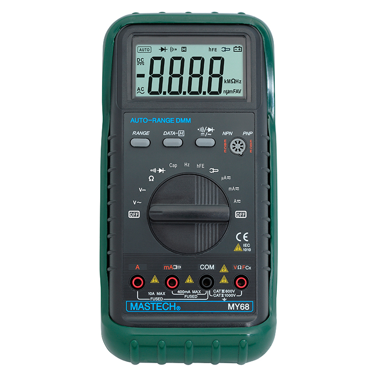 MASTECH MY68 Handheld LCD Auto Range DMM Digital Multimeter DC AC Voltage Current Ohm Capacitance Frequency Meter mastech ms8226 handheld rs232 auto range lcd digital multimeter dmm capacitance frequency temperature tester meters