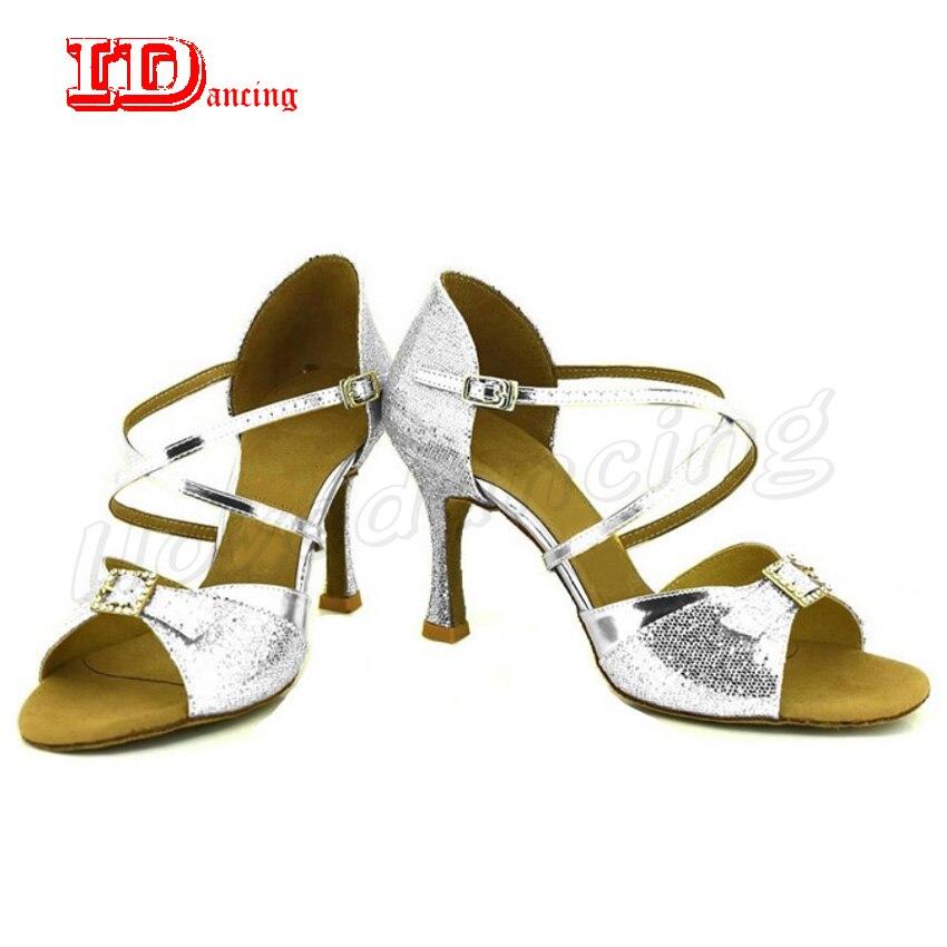 Chaussures de danse Salsa pour femmes chaussures de bal pour femmes chaussures de danse talons chaussures en daim semelle valse Tango