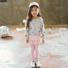 Осенне-весенний свитер для девочек детские толстовки Повседневные детские топы, пуловер футболка с длинными рукавами одежда для маленьких детей
