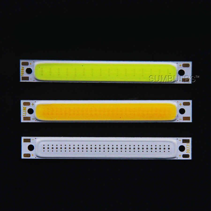 60x8 мм COB светодиодный светильник 1,5 Вт 3 Вт Теплый Холодный белый синий красный светодиодный COB лента-лампа постоянного тока 3 в 3,7 в чип для DIY работы велосипедная подсветка