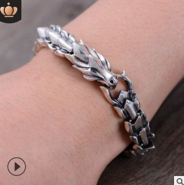 man bracelet 100% real silver 925 Dragon scales bracelet for men mens braclets 11mm high quality free shipping 925 silver bracelet men friendship bracelets 20cm mens jewellery 11mm