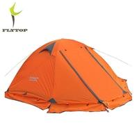 FLYTOP Winter Tent 2 3persons Tourist Aluminum Pole Double Layer Double Door Windproof Storm Proof