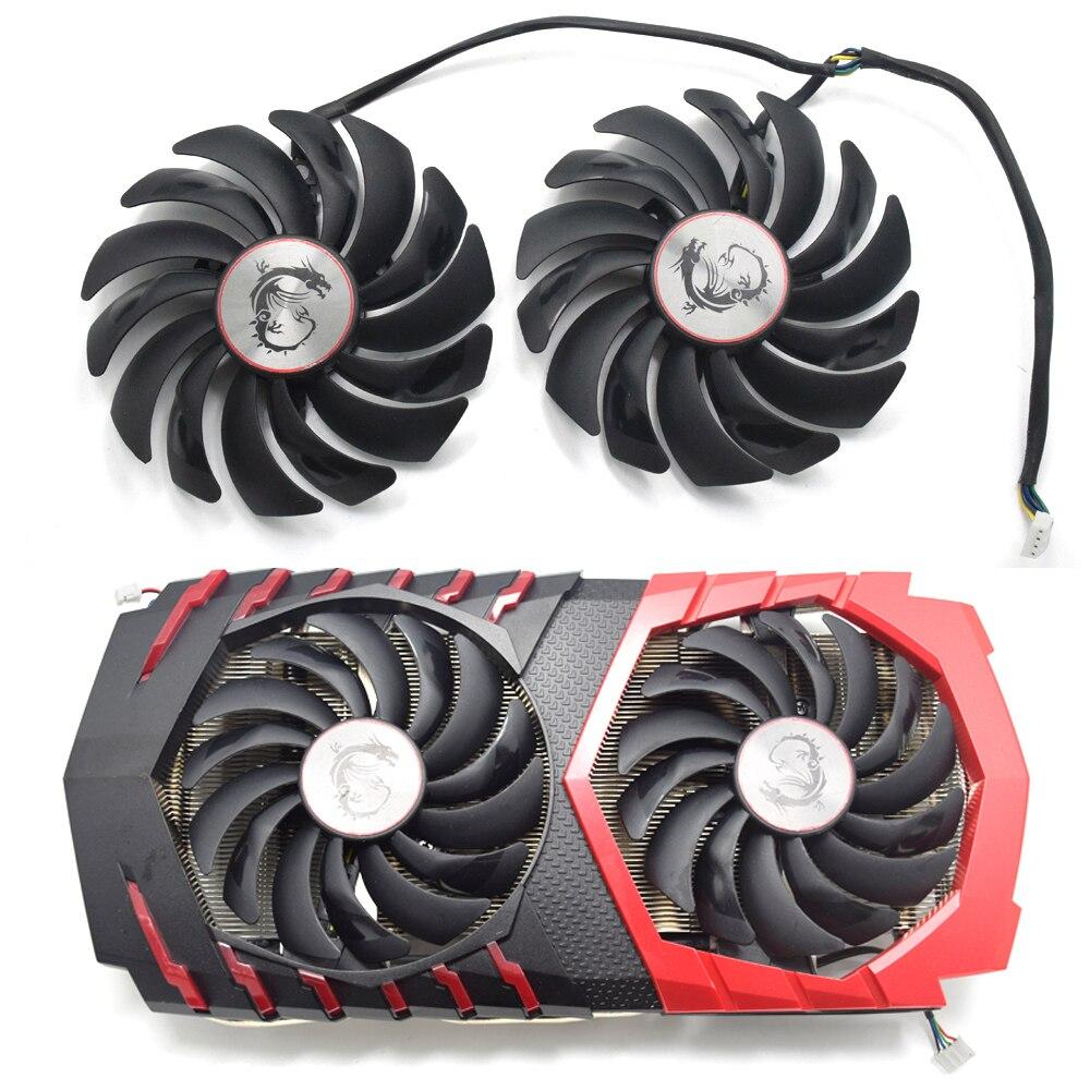 95 MM PLD10010B12HH PLD10010S12HH Cooler Fan Para MSI Radeon R9 380 Armadura 2X GTX 1060 1070 1080 TI RX 470 570 Cartão de Jogo RX580