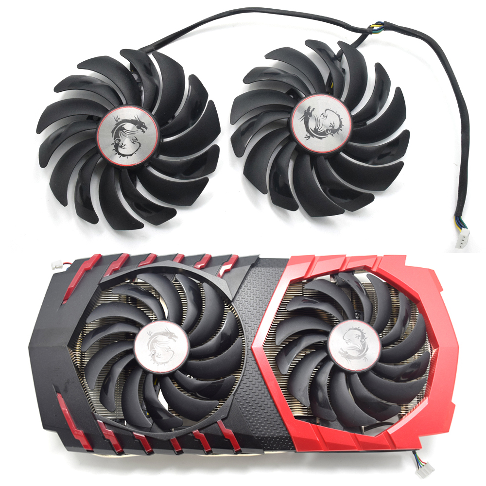 95MM PLD10010B12HH PLD10010S12HH Cooler Fan For MSI Radeon R9 380 Armor 2X GTX 1060 1070 1080 TI RX 470 570 RX580 Gaming Card image