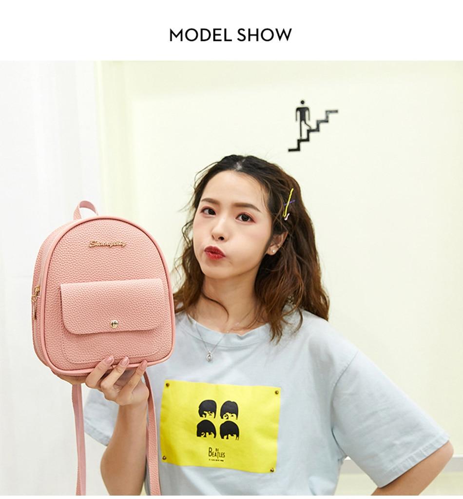 HTB1gVZLXBWD3KVjSZFsq6AqkpXaP 2019 Mini Backpack Women Korean Style PU Leather Shoulder Bag For Teenage Girls Multi-Function Small Bagpack Female Phone Pouch