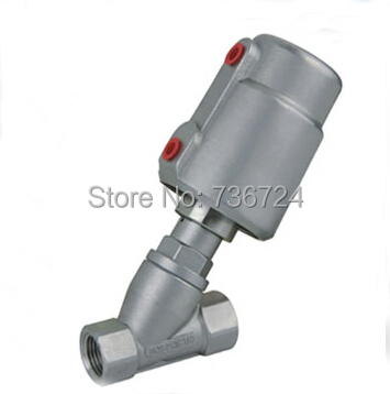 1/2 pneumatic angle seat valve stainless steel body S.S304 pneumatic stainless steel 3pc 1000 wog ball valve