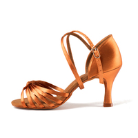 Adult Salsa Dance Shoes Party Ballroom Latin Dance Modern Women Shoe Fitness Breathable Dancing Sneakers Brown