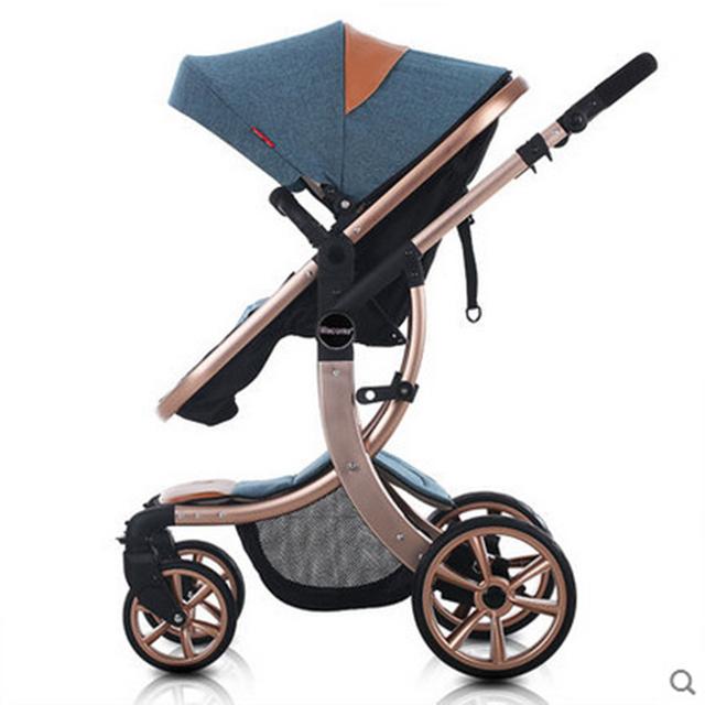 Infantil Carrinhos de Bebê 2 Em 1 Paisagem Carrinhos Kinderwagen Dobrado Carrinhos Carrinho De Bebê de Luxo Carrinho De Criança de Alta Qualidade Bebê Berço GH372