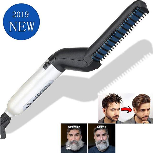 Los hombres rápido barba plancha Styler peine de pelo rizador mostrar Cap herramienta estilo accesorio