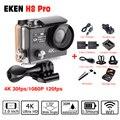 Ultra HD 4 К/30fps 1080 P кадров в секунду Ambarella A12 go Спорт Действий Камеры ЭКЕН H8 PRO go pro стиль с дистанционным Двойной Экран действий cam