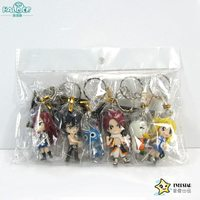 Halder Fairy Tail Figures Anime Charms Key Chains Etherious Natsu Dragneel Gray Fullbuster Trinkets Accessories Gadgets