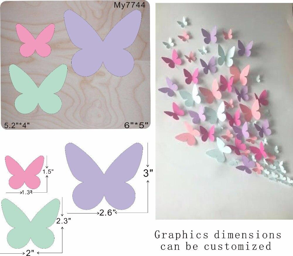 Beautiful butterfly moulds die cut accessories wooden die Regola Acciaio Die Misura MY