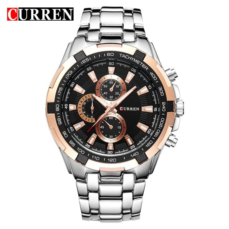 CURREN Brand Luxury Stainless Steel Watch Men Business Casual &Fashion Quartz Watches Waterproof Relogio Male Wristwatch men s watches curren fashion business quartz watch men sport full steel waterproof wristwatch male clock relogio masculino