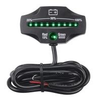 Top!  12V 24V Led Lood zuur Accu Indicator Gauge Batterij Level Monitor Voor Golfkarretjes Marine Motorcycle truck Forkli-in Golfkarretjes van sport & Entertainment op