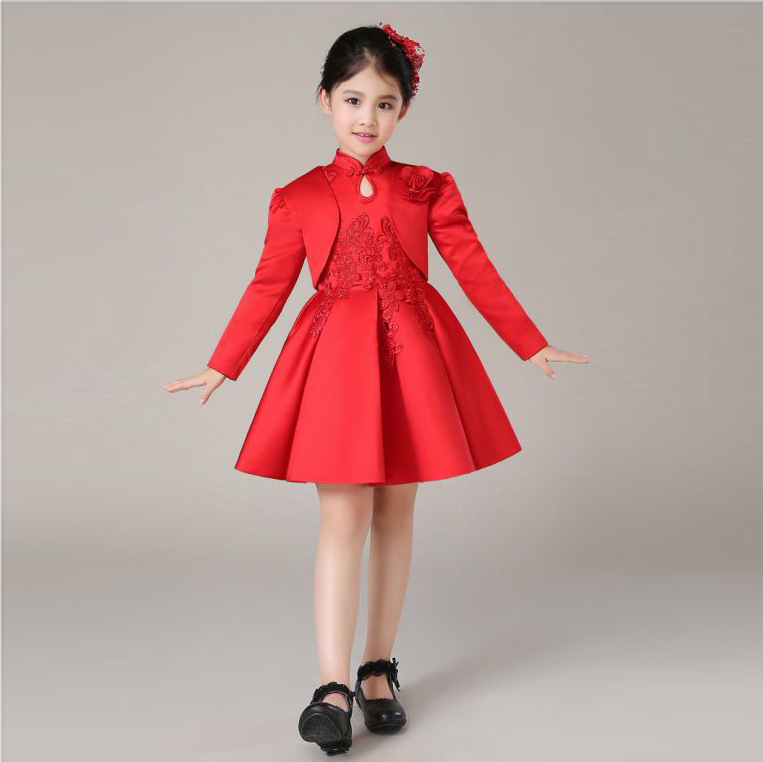 720fb5a658 Latest Girls Party Wear Formal Vestido Eleghant Princess Wedding Flower Girl  Dress Fashion Kids Clothes 2019 Spring SKF1640018-in Dresses from Mother &  Kids ...
