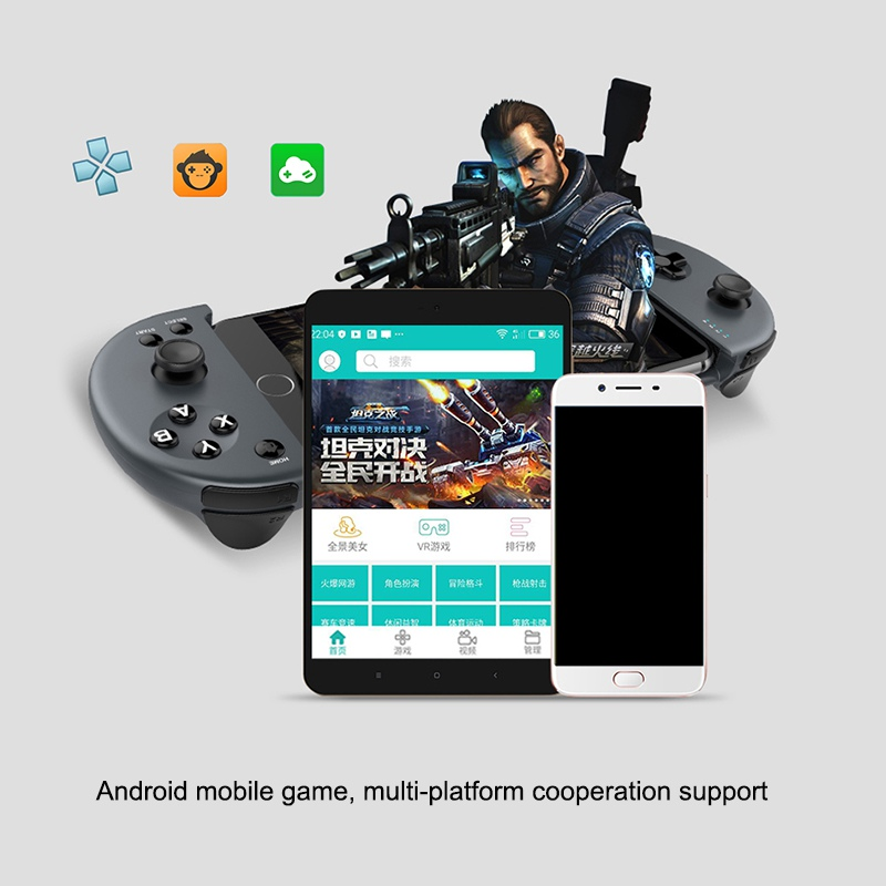 Wireless Bluetooth Handle Gamepad Stretchable Joystick Controller For  Smartphone Android IOS For Mobile version LOL CF