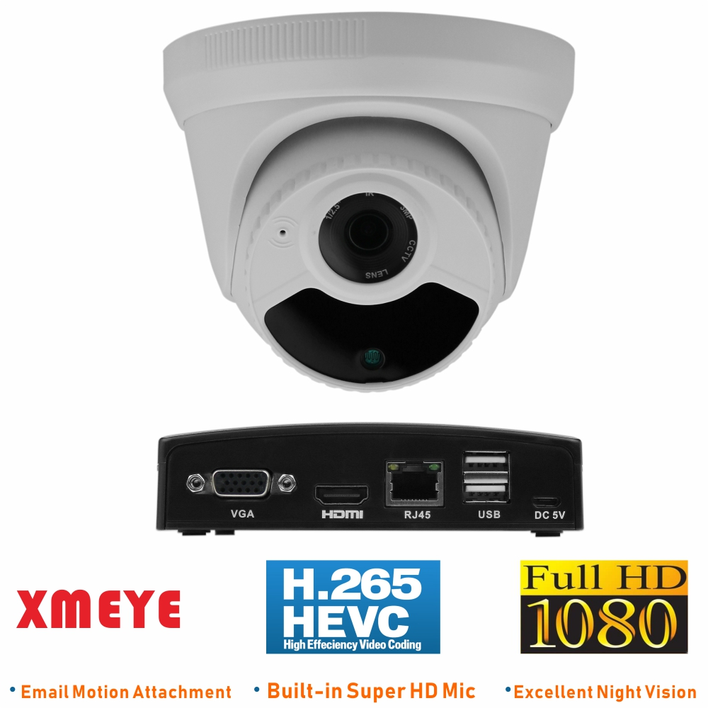 ENSTER H 265 Super Mini NVR N9000 8EX and 1 piece Full HD1080P Advanced Audio IP