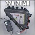 72v 20ah ebike комплект литий-ионных батарей 72v 2000w электрический велосипед батарея для электрического велосипеда Samsung сотовый без налогов треуго...