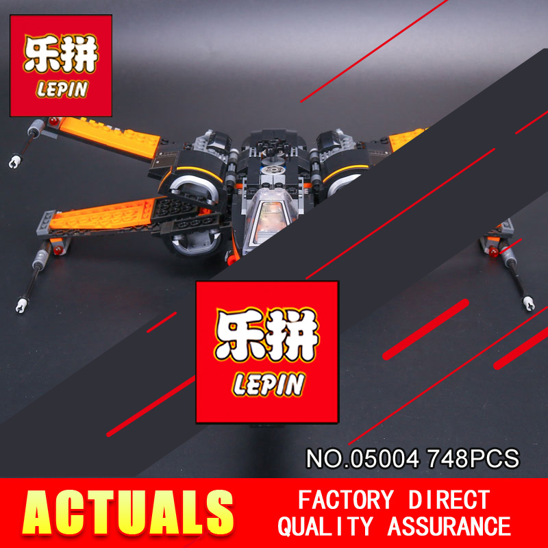 LEPIN 05004 Star Series War The First Order X Model Wing Fighter 79102 Building Blocks Bricks Compatible with Educational Toy hot sale building blocks assembled star first wars order poe s x toys wing fighter compatible lepins educational toys diy gift