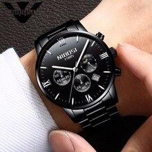 NIBOSI Black Watches Men 2017 Top Brand Luxury Famous Top Brand Men Quartz Military Sport Watch Men's Wristwatches Relogio Saat