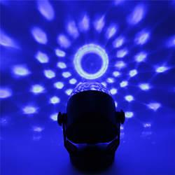 Мини светодиодный этап световой эффект хрустальный магический шар голос Управление Батарея питание многоцветная этап лампы освещения для