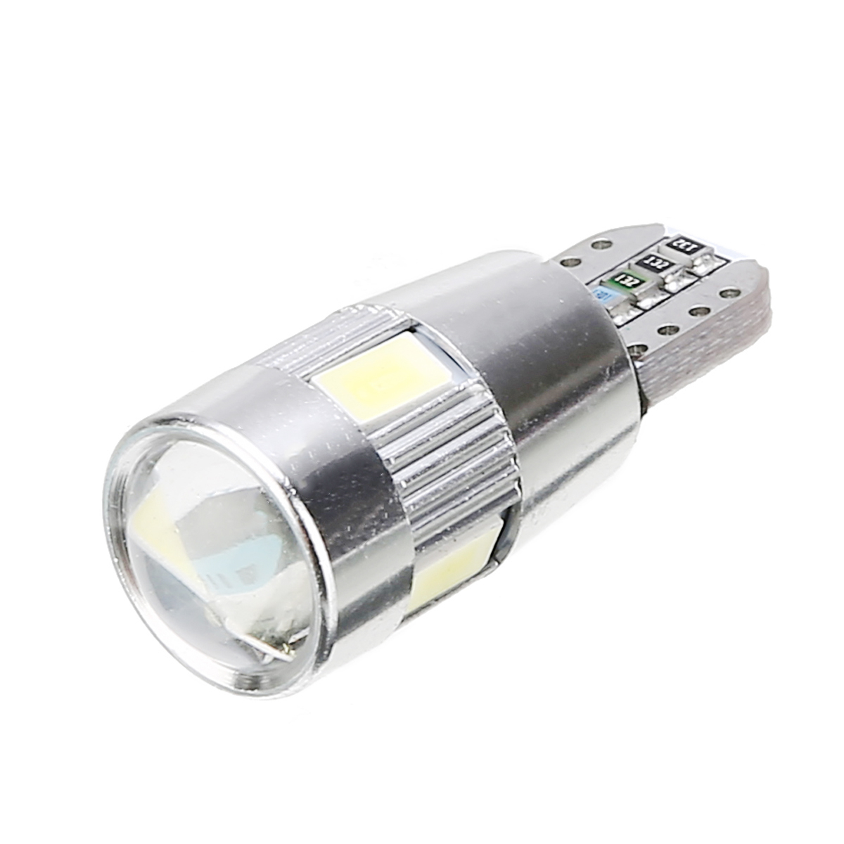 10pcs T10 W5W LED Car Wedge Side Park Tail Light Bulb White Bright Lens 6000K