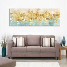 Modern Abstract Canvas Painting Gold Money Sea Wave Oil on Poster Wall Art Picture for Living Room Home Decor