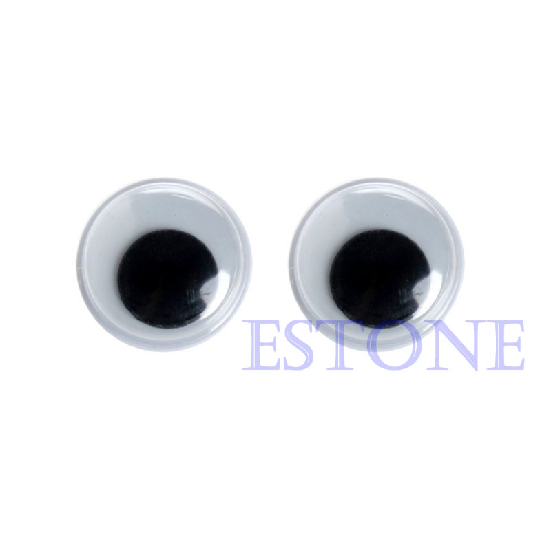 520PCS 6-20mm Wiggly Wobbly Googly Eyes Autoadhesivos Scrapbooking - Muñecas y peluches - foto 6