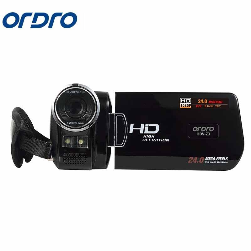 Ordro 3.0 pouces HDV Rotation écran 1080 P Full HD Reflex caméras numériques enregistreur vidéo professionnel 24MP CMOS caméra Photo - 2