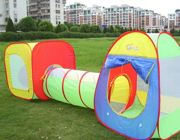 3pcs/set Childrenu0027s play house tent large house crawl tube tunnel tent with tunnel Indoor Outdoor Game Room Tent-in Toy Tents from Toys u0026 Hobbies on ... & 3pcs/set Childrenu0027s play house tent large house crawl tube tunnel ...
