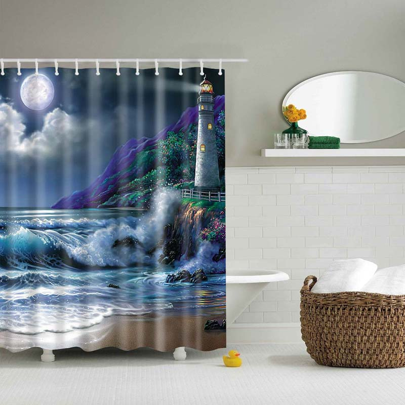 popular lighthouse shower curtains-buy cheap lighthouse shower