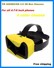 VR Shinecon III Head-Mount Cardboard Virtual Reality Glasses Mobile 3D Video Movie Glasses 3 D VR Helmet Park for 4.7-6.0″ Phone