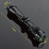 3-9X40EG rosso e verde luce dieci linea sniper ottica portata di caccia mirino di avvistamento avvistamento specchio uccello Reticolo Mirino Ottico del Fucile Scop
