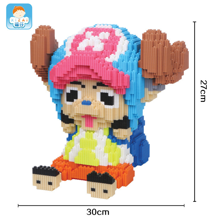 Xizai Big size Connection Blocks Anime Model Building Bricks Chopper Figures One Piece DIY Assembly Toys for Children Gifts