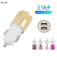 Dual USB Car Charger Quick Charge 3.0 For iPhone Samsung Type-C PD Fast Mobile Phone Car-Charger