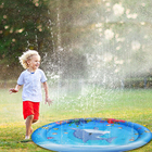 100cm Baby Water Play Mat Kid Sprinkler Water Pad Summer Outdoor Sports Toys Children PVC Beach Lawn Cushion Children's Games