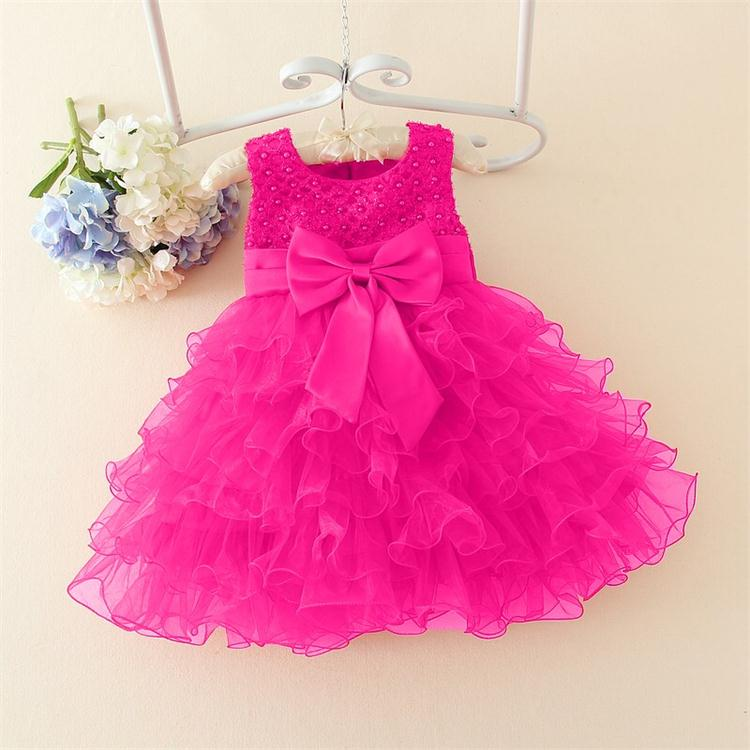 bc71d227f9f51 Hot Lace flower girls wedding dress baby girls christening cake dresses for  party occasion kids 1 year baby girl birthday dress
