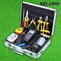 KELUSHI 30 pcs Kit de Ferramentas De Fibra Óptica FTTH com SKL-6C Cleaver e APM-820 Optical Power Meter 10 mW localizador Visual de Falhas localizador tester