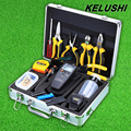 KELUSHI 30pcs FTTH Fiber Optic Tool Kit with SKL-6C Cleaver and APM-820 Optical Power Meter 10mW Visual Fault Locator tester