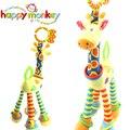 Brinquedos do bebê Carrinho De Criança Cama Berço Pendurado Pingente de Girafa De Pelúcia Chocalhos de Brinquedo Mordedor Berço Móvel Macio Para Bebês Recém-nascidos 0-12 Meses