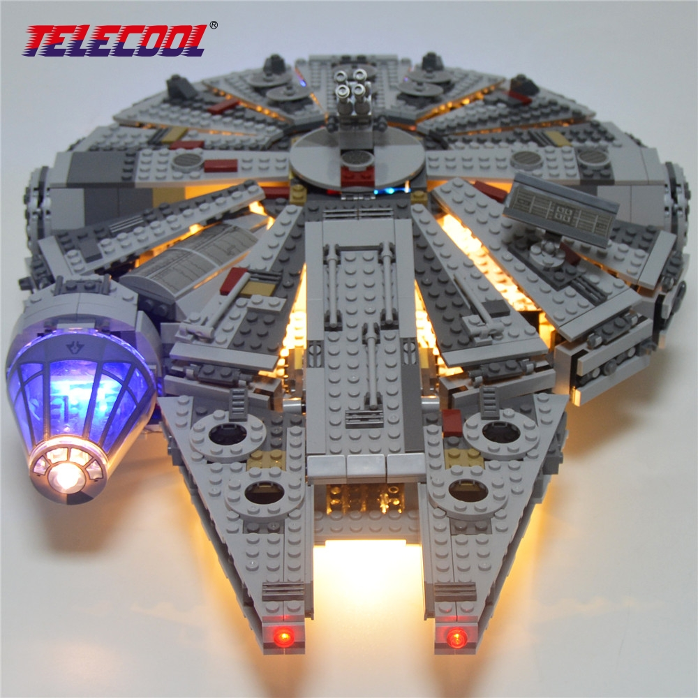 TELECOOL LED Light Block (Only Light Set) For Star Wars The Force Awakens Millennium Falcon Model Rey BB-8 Model Number 75105